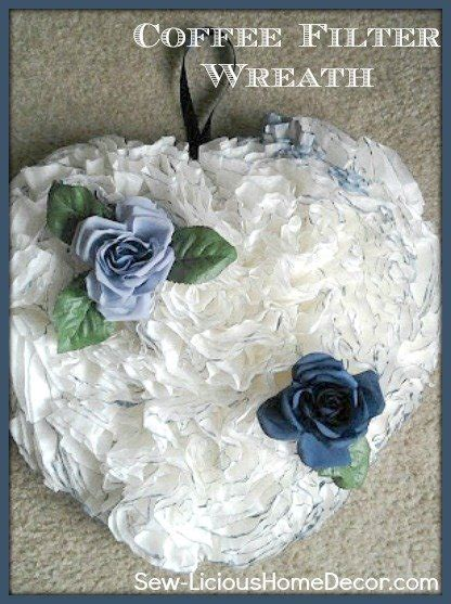 I had seen these wreaths a few times on pinterest and thought they just looked so beautiful and they are so simple to make. Coffee Filter Wreath Tutorial