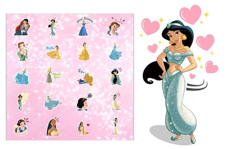 Stickers Princesse Disney New Sticker Pack Featuring The Disney Princesses Launches In The Bbm Shop Trutower