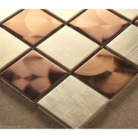 copper mosaic tile metal stainless steel wall tile bathroom copper mosaic