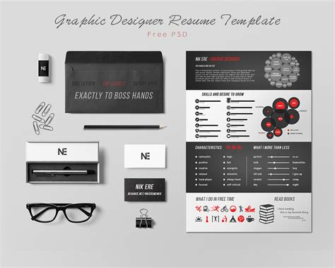 cool graphic templates photoshop 25 best free resume cv templates psd download