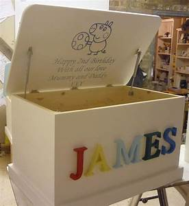 personalised toy box 3d letters or carved in hand made With toy box letters