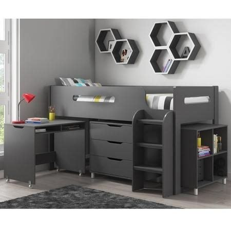 dynamo dark grey cabin bed ladder   fitted  side furniture