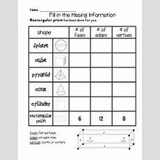 3d Shapes Worksheet Pack Grade 1 Common Core Aligned Tpt