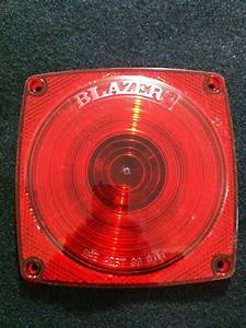 Blazer 4 5 034 Red Lens Trailer Tail Lights Stop Turn Tail
