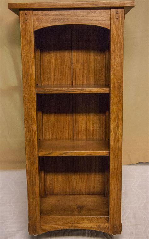 custom arts  crafts bookcase  bench dog woodworks