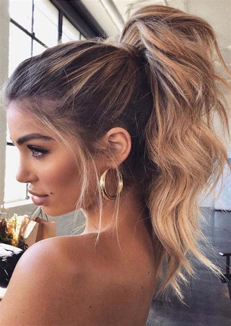 stunning high ponytail hairstyles trends  modern