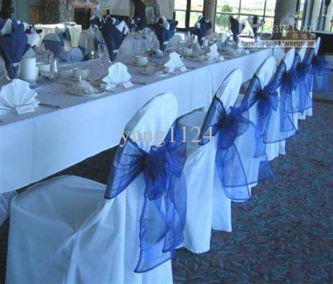sale royal blue organza chair sashes with 0 45