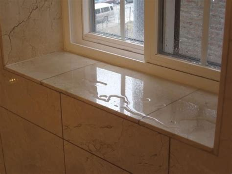 Bathroom Window Sill by Window Sill If Window Located Within The Shower Stall