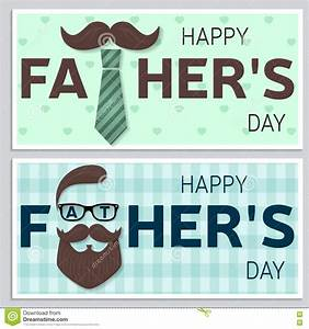 Set Of Happy Father's Day Greeting Cards. Happy Fathers ...