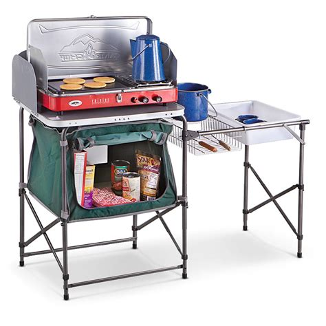 Guide Gear® Deluxe Camp Kitchen  581526, Tables At