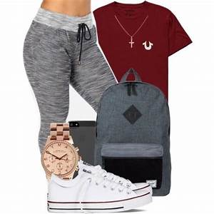 Grey fashionista back to school winter outfits comfy sweatpants - Wheretoget