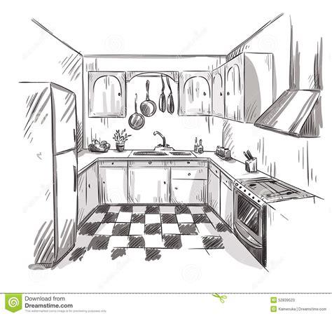 dessin cuisine kitchen vent 7 kitchen interior drawing