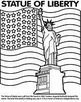 Statue Liberty Crayola Estatua Libertad Guardado Desde Markers sketch template