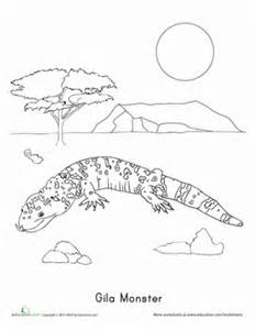 HD wallpapers coloring page gila monster