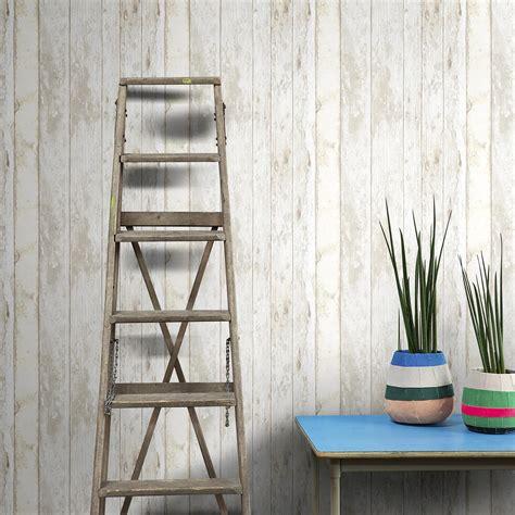 tapisserie pour bureau papier peint intissé rustik wood écru leroy merlin