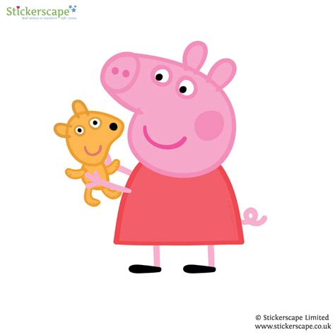 peppa pig wall stickers peenmedia com