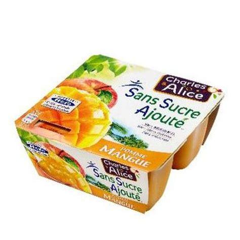 pomme mangue dessert fruitier sans sucre ajoute tous