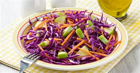 recettes de cuisine originales recette de salade de chou pomme et carotte aux agrumes