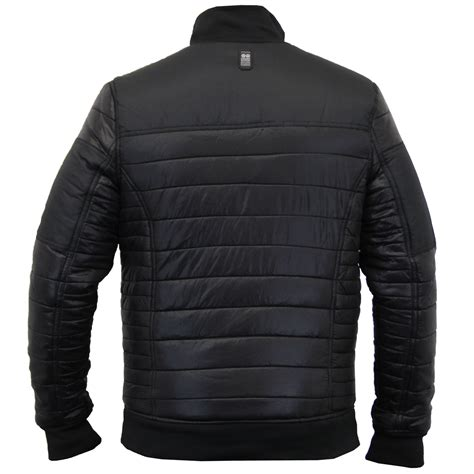mens quilted bomber jacket mens jacket crosshatch coat quilted padded bomber