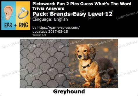Pictoword Fun 2 Pics Brandseasy Level 12 Answers Game