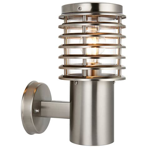 wickes eton 60w exterior wall light stainless steel wickes co uk