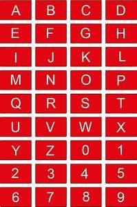 Number names worksheets letter number chart free for Chart letter labels