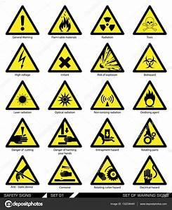 Emniyet işaretleri kümesi. Dikkat işaretleri — Stok Vektör ...