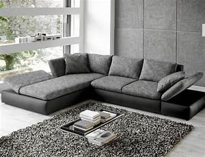 Tiefe Couch : wohnlandschaft ecksofa 326x208 grau schwarz polsterecke ~ Pilothousefishingboats.com Haus und Dekorationen