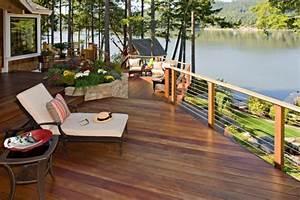 Geländer Holz Terrasse : garde corps terrasse et balcon en verre bois ou inox ~ Watch28wear.com Haus und Dekorationen