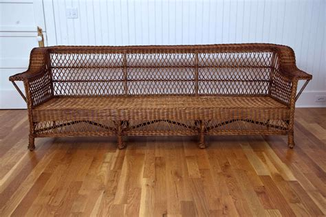 Antique Wicker Loveseat by Antique Bar Harbor Wicker Sofa At 1stdibs