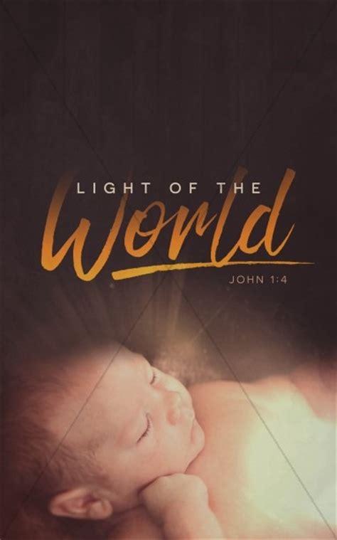 light   world christmas church bulletin christmas