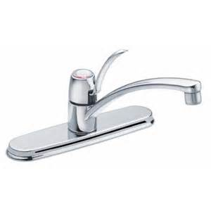 moen 1 handle kitchen faucet with 8 in centres chrome