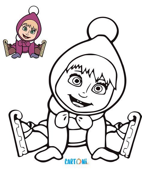 disegni da colorare disegno masha da colorare cartoni animati