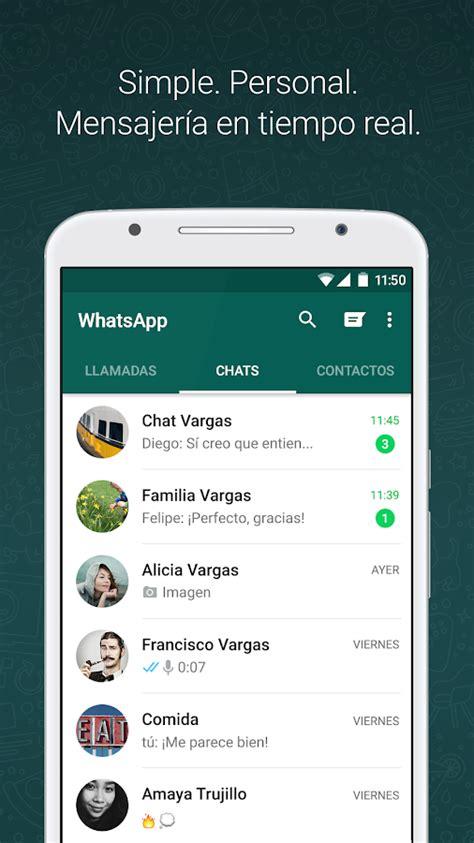 whatsapp messenger aplicaciones de android en play