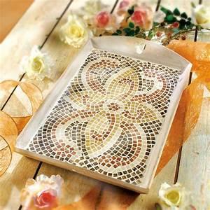 Mosaik Basteln Ideen : mosaik tablett basteln idee mit anleitung klick auf ~ Lizthompson.info Haus und Dekorationen