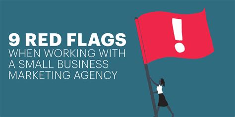 marketing business 9 flags working with a small business marketing agency