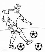 Coloring Football Player Printable Cool2bkids sketch template