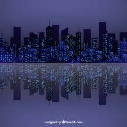 Cartoon City Skyline at Night