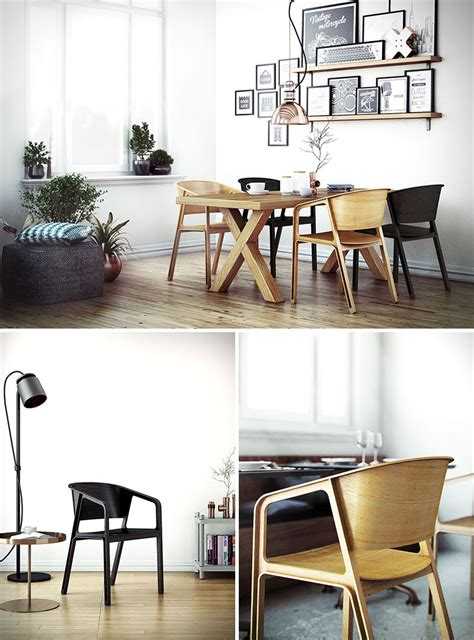 furniture ideas  modern wood chairs   dining