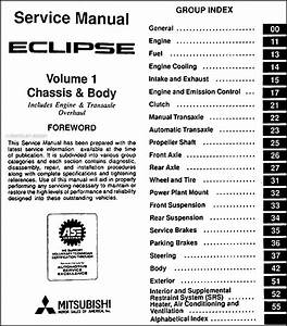 1996 Mitsubishi Eclipse Repair Shop Manual Set Original
