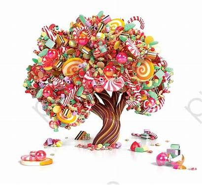 Candy Tree Trees Candyland Clipart Drawing Grass