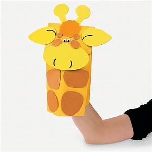 Zoo Animal Paper Bag Puppet Craft Kit - Oriental Trading