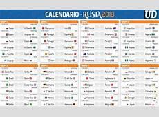 Ver calendario completo de partidos Rusia 2018 Mundial