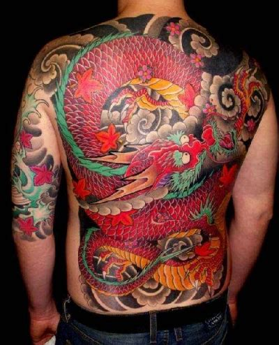 dragon japanese tattoo photo  design tattoo picture