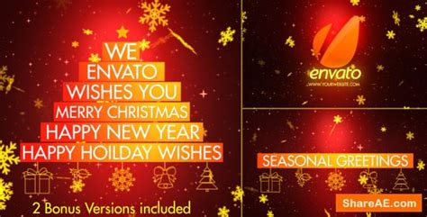 Christmas Wishes After Effects Templates by Videohive Christmas Wishes Typography 187 Free After Effects