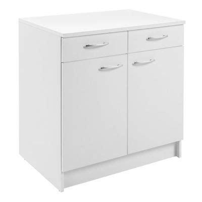 cuisine primalight meuble cuisine bas 2 porte 2 tiroir 80 cm blanc primalight