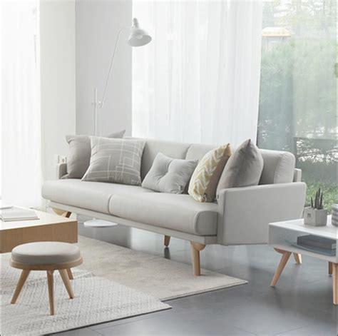 solid wood leather sofa small apartment sofa combination