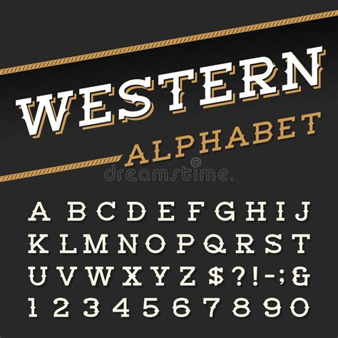 western style retro alphabet vector font stock vector illustration  letters background