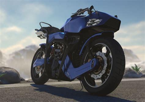 Futuristic motorcycle | CGTrader