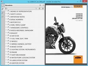 Ktm Duke 125 And 200  2012    Repair